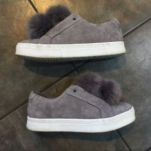 Sam Edelman fuzzy pom shoes